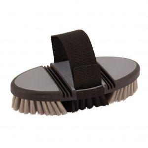 Softtouch kardesk børste i sort og grå