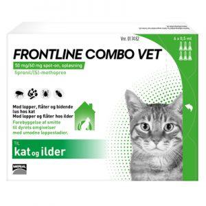 Frontline Combo (lopper/Flåter/lus) til katte. En pakke med 3x0,50ml