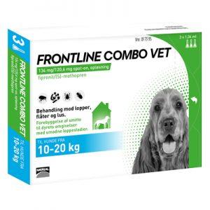 Frontline Combo (Lopper/Flåter/Lus) Hund (10-20 kg)-0