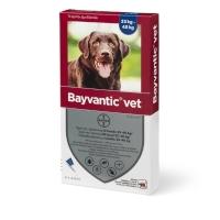 Bayvantic lopper/flåter/Lus Vet Hund (25-40kg), æske med 4 behandlinger