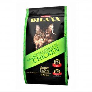 10 kg pose med Bilanx kattefoder, grøn pose