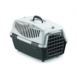 Sort/grå transport box til hund eller kat
