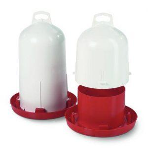 Drikkeautomat med dobbelt cylinder, rød og hvid, 6 eller 12 liter