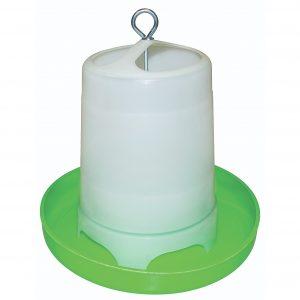 Fodertårn til fjerkræ, grøn og hvid