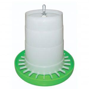 Plast fodertårn uden låg, grøn og hvid