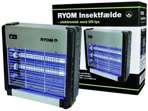 Elektrisk Insektfælde - Ryom plast/aluminium 2X 6W 75 M2-LED insektfælde