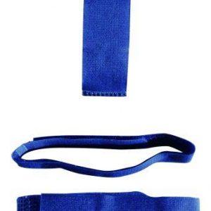 Ankelbånd i blå med velcro til kreaturer/ kvæg