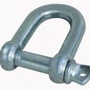 Sjækel galvaniseret, D-model, 5/16 10 stk-0