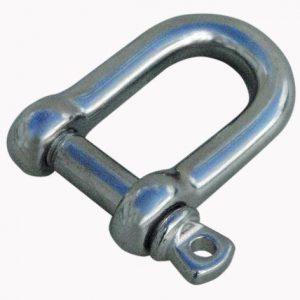 Sjækel rustfri stål -d-model 3/16-0