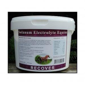Spand med elektrolyte pulver fra Solanum