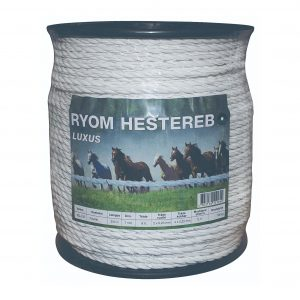 Polyreb, Hvid hestehegn, 7 mm, luksus kvalitet, strøførende