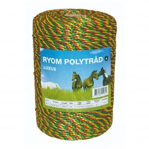 Polytråd hestehegn- 3 farvet (rød-grøn-gul)