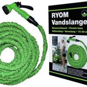Vandslange flex 10-30 meter-grøn haveslange med brusehoved
