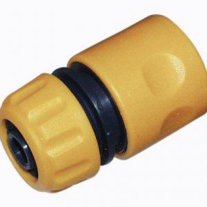 """Slange kobling 1/2"""" -til vandslange, gul og sort"""