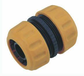 """Samleled til 3/4"""" vandslange-gul og sort plast"""