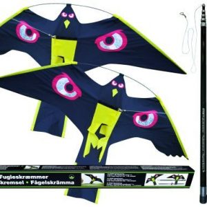 Skadefugleskræmmer m/2 Drager 10m- 2 stk. dragehøg på 140 cm.