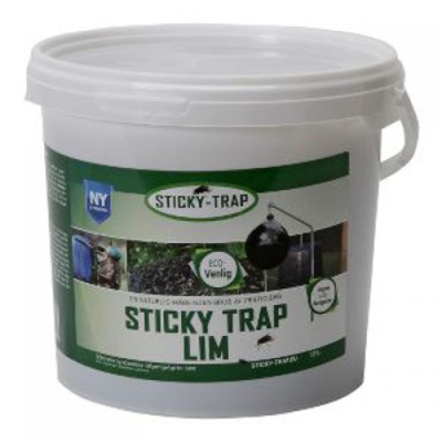 Sticky trap lim mod fluer, i 1,5 liter spand