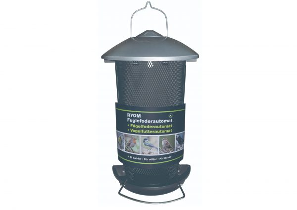 Fuglefoderautomat til nødder, vægmonteret