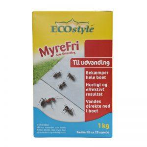 MyreFri Kvik Udvanding 1 kg i gul/blå/rød pakke fra ECOstyle-Bekæmper hele myreboet