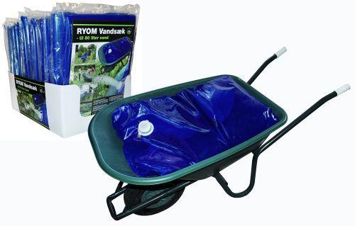 Vandsæk, blå til transport af vand i trillebør70 X 100 cm 80 liter