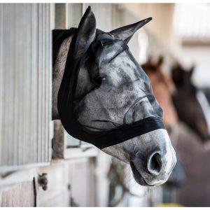 Hestehoved med sort fluemaske