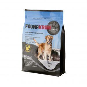 Faunakram træningsgodbidder med 94% kylling, 70 gram pose