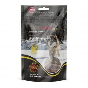 Faunakram hunde snacks af 100% andemave, 50 gram