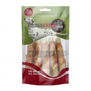 Faunakram godbidder til hunde, pressede pinde med kylling, 170 gram
