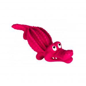 Hundelegetøj, pink krokodille
