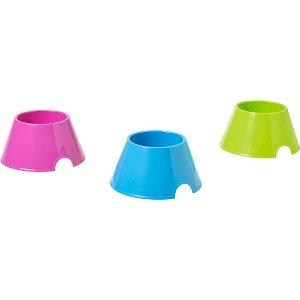 PICNIC SPANIEL, madskål / vandskål, til hunde med lange ører, pink, blå, grøn