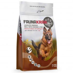 Faunakram hundefoder til voksne hunde, 12 kg