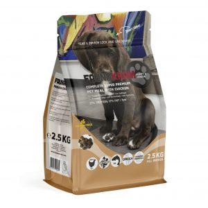 Faunakram til hvalpe og junior hunde, 2,5 kg