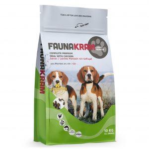 Faunakram senior hundefoder, 10 kg pose,