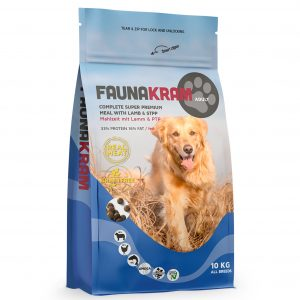 Faunakram til voksne hunde med lam og kylling, 10 kg