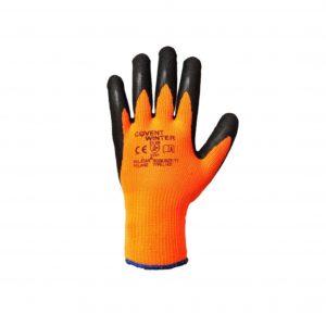 Vinter arbejdshandsker i orange og sort