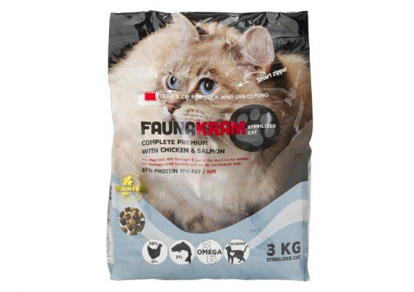 3 kg kattefoder- Faunakram