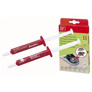 Lokkemiddel i røde tuber til mus og rotter, 2 x 3 gram i æske
