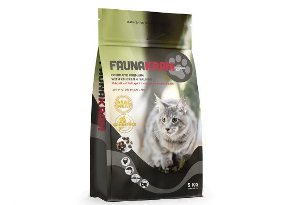 Faunakram premium kattefoder, 5 kg